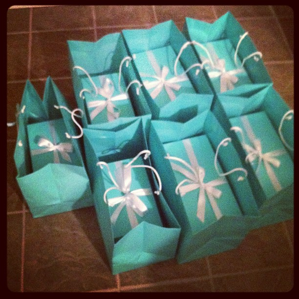 Seven Bridesmaids, Seven Tiffany Blue Boxes