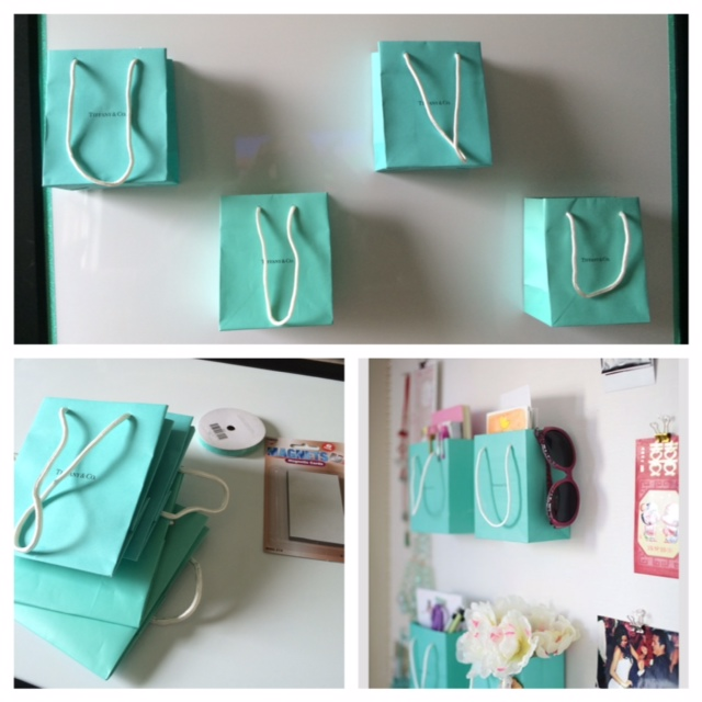 I Up-Cycled my Tiffany Bags Thanks to A Pinterest Project