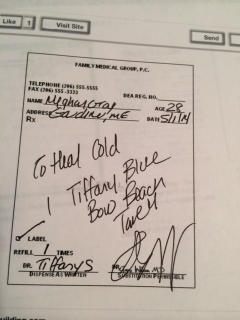 Doctor's Prescription says Tiffany and Company
