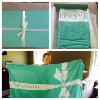 Summer Can Officially Start Now that I have my Tiffany and Company Beach Towel