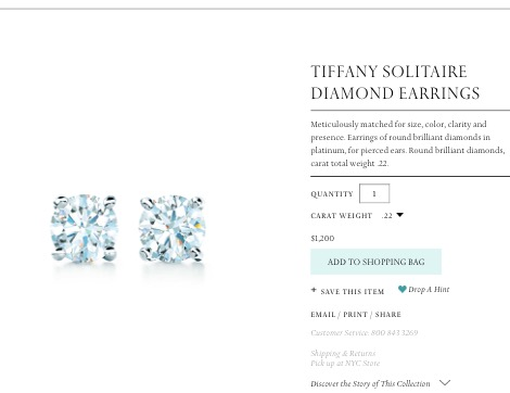 6c2761fa59e Operation Tiffany and Company Diamond Earrings – tiffanybluegirlatheart