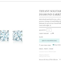 Operation Tiffany and Company Diamond Earrings