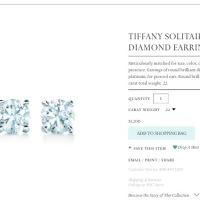 Operation Tiffany and Company Diamond Earrings